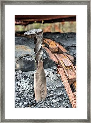 The Railroad Spike Knife Framed Print