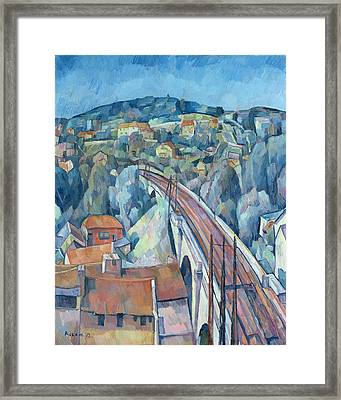 The Railway Bridge At Meulen Framed Print