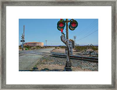 The Railway Crossing Framed Print