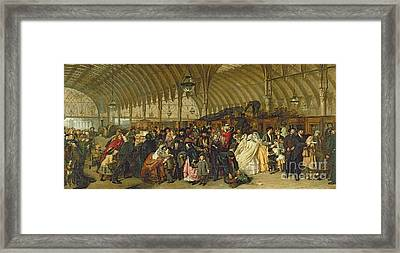 The Railway Station Framed Print by William Powell Frith