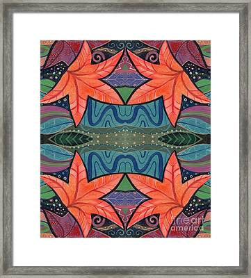 The Rain And The Dancing Leaves Framed Print by Helena Tiainen