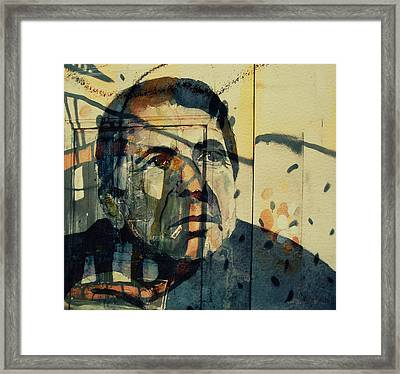 Framed Print featuring the painting The Rain Falls Down On Last Years Man  by Paul Lovering