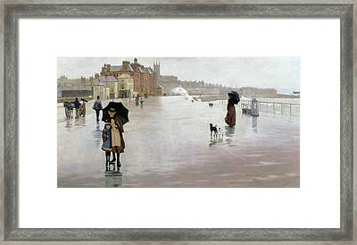 The Rain It Raineth Every Day Framed Print by Norman Garstin