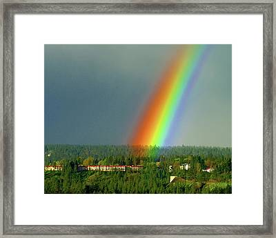 Framed Print featuring the photograph The Rainbow Apartments by Ben Upham III
