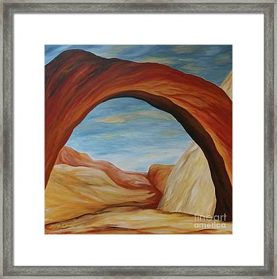 The Rainbow Bridge II Framed Print by Christiane Schulze Art And Photography