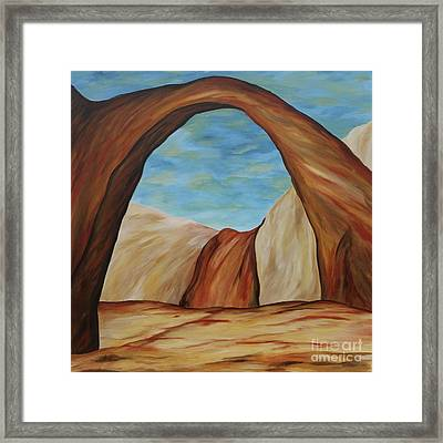 The Rainbow Bridge IIi Framed Print by Christiane Schulze Art And Photography