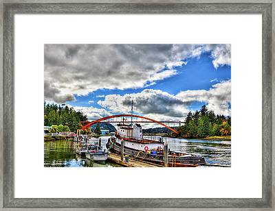 The Rainbow Bridge - Laconner Washington Framed Print by David Patterson