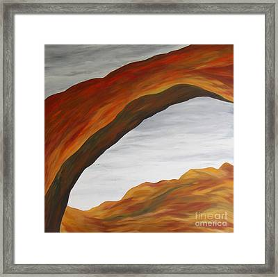 The Rainbow Bridge V Framed Print by Christiane Schulze Art And Photography