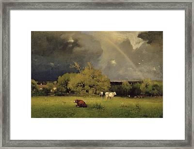 The Rainbow Framed Print by George Inness Senior