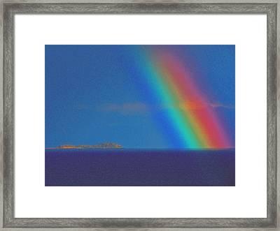 Framed Print featuring the photograph The Rainbow by John Hartman
