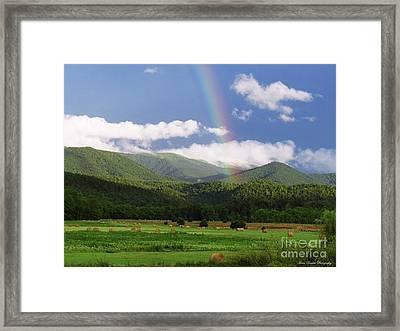 The Rainbow's End Framed Print