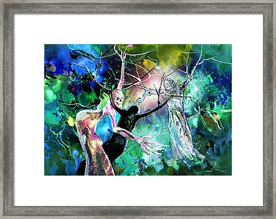 The Raising Of Lazarus Framed Print by Miki De Goodaboom