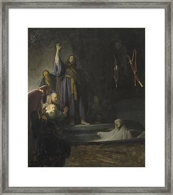 The Raising Of Lazarus Framed Print by Rembrandt