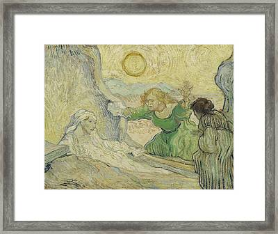 The Raising Of Lazarus Framed Print by Vincent van Gogh