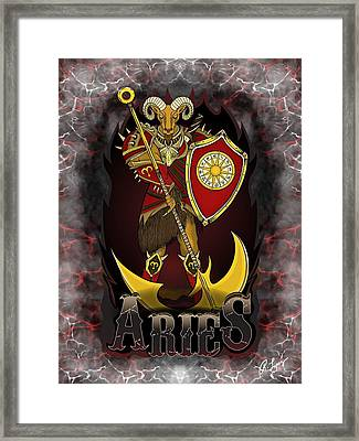 The Ram Aries Spirit Framed Print