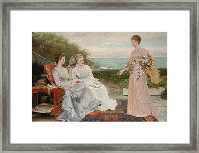 The Ramparts Framed Print by Charles Edward Perugini