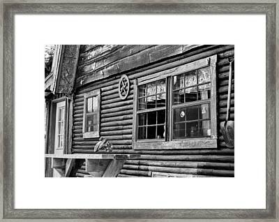 The Ranch House Bw Framed Print