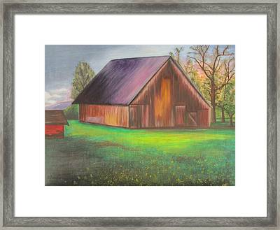 The Ranch Framed Print by Leslie Gustafson