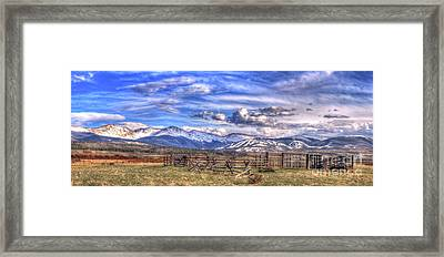 The Ranch Pano Framed Print
