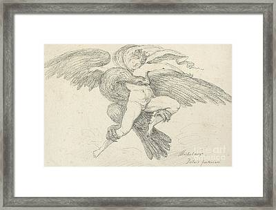 The Rape Of Ganymede Framed Print by Jean-Honore Fragonard
