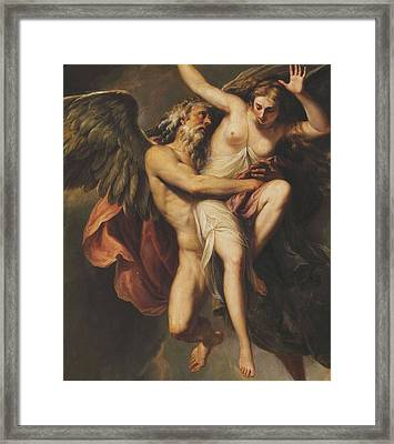 The Rape Of Oreithyia Framed Print by Giovanni Battista Cipriani