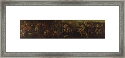 The Rape Of The Sabines Framed Print