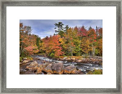 Framed Print featuring the photograph The Rapids On The Moose River by David Patterson
