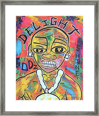 The Rappers Delight  Framed Print