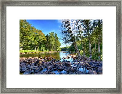 The Raquette River Framed Print by David Patterson