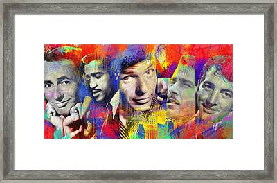 The Rat Pack Art By Diana Van Framed Print