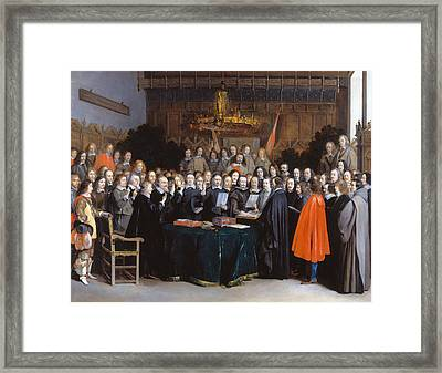 The Ratification Of The Treaty Of Munster, 15 May 1648 Framed Print