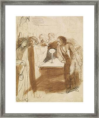 The Raven - Angel Footfalls Framed Print by Dante Gabriel Rossetti