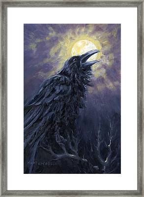The Raven Called My Name Framed Print by Kurt Jacobson