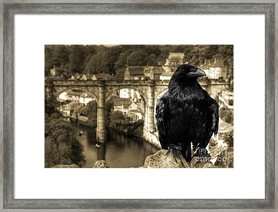 The Raven Of Knareborough Castle Framed Print by Rob Hawkins