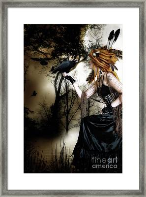 The Raven Framed Print by Shanina Conway