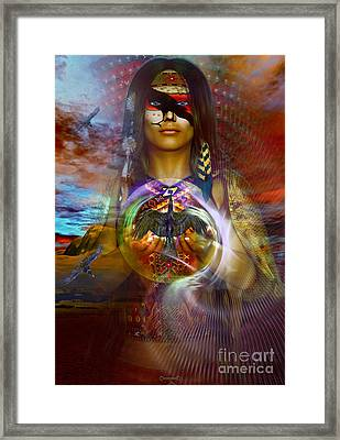 the RAVEN  spirit Framed Print by Shadowlea Is