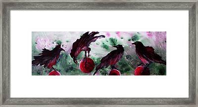 The Raven Still Beguiling Framed Print by Sandy Applegate