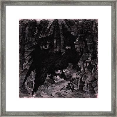 The Raven's Dream Framed Print by Rachel Christine Nowicki