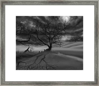 The Raven's Night Framed Print by James Christopher Hill