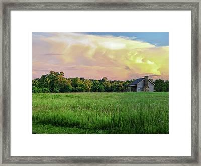 The Ray House Framed Print