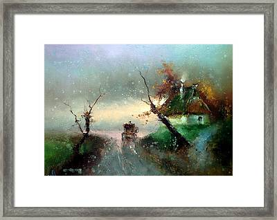 The Rays Of The Morning Sun Framed Print