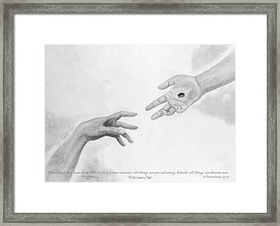 The Re-creation Of Man Framed Print by Michael McFerrin