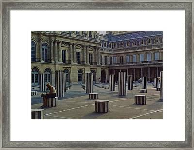 Framed Print featuring the photograph The Reader In Paris by Lori Miller