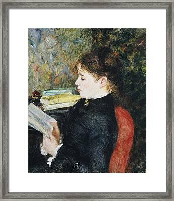 The Reader Framed Print by Pierre Auguste Renoir