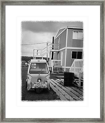 The Real Alaska - Toilet Patrol Framed Print by Pete Hellmann