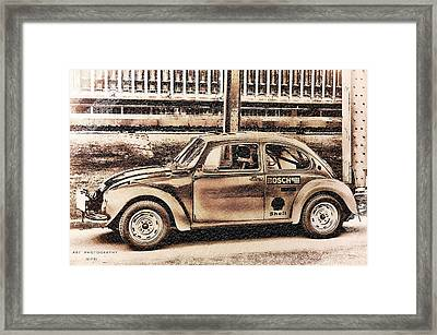 The Real Beetle Framed Print by Nicole Frischlich