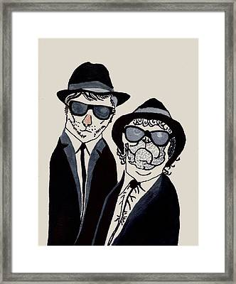 The Real Blues Brothers Framed Print by Connie Valasco