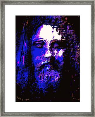 The Real Face Of Jesus Framed Print