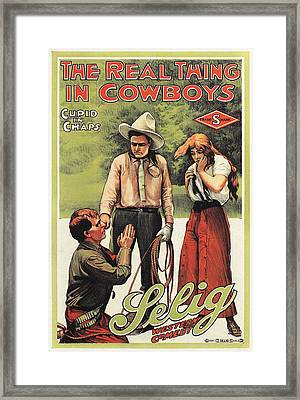 The Real Thing In Cowboys Framed Print by Granger