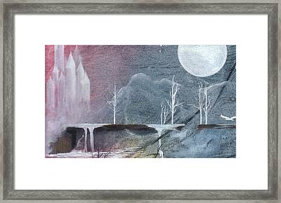 Framed Print featuring the painting The Realm Of Queen Astrid by Jackie Mueller-Jones